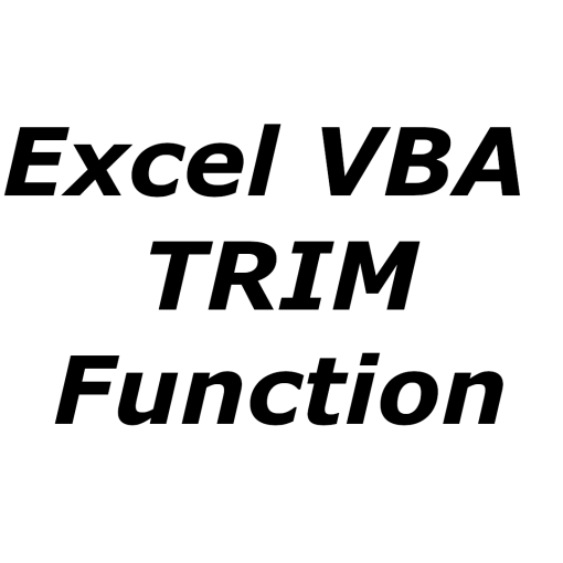 Excel VBA TRIM function