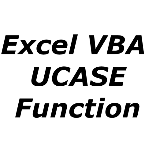 Excel VBA UCASE function
