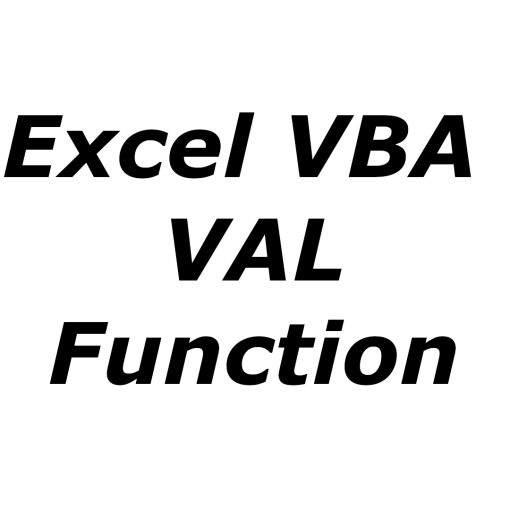 Excel VBA VAL function