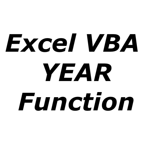 Excel VBA YEAR function
