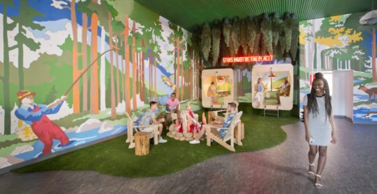SCAD Interior Design Programs Rank Top in Nation   officeinsight The interior of SCAD s Adler Hall features a 360 degree paint by numbers  installation designed by alumnus Kyle Millsap  B F A  illustration