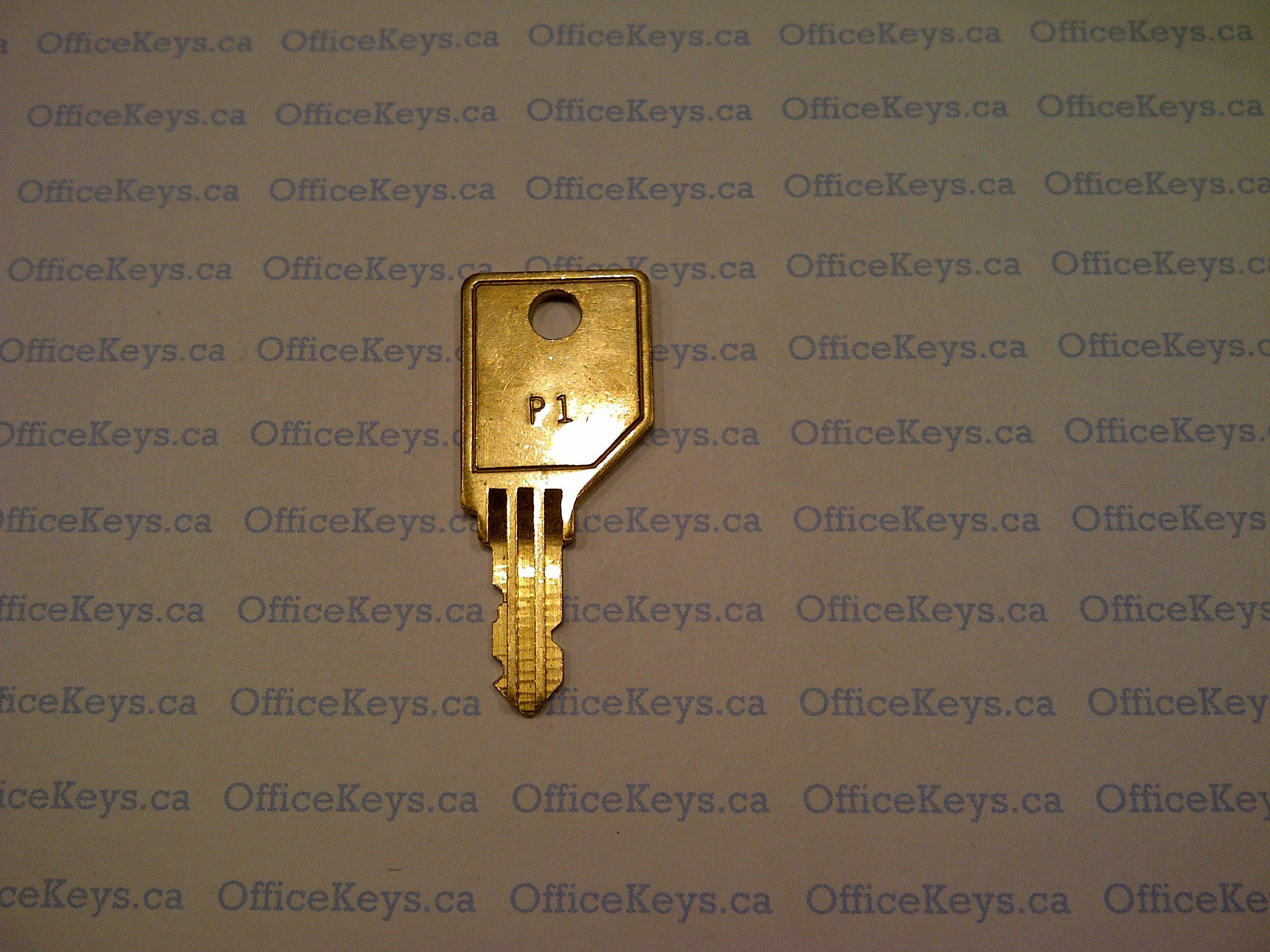 2 Wesko or Ki Replacement File  Cabinet Desk Keys Codes P251 to P300 Lock Key
