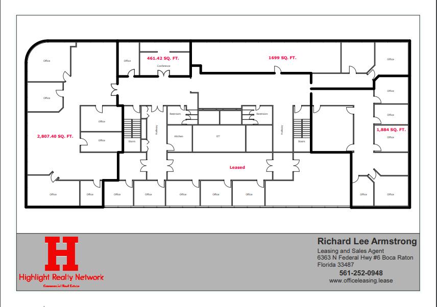 7860 SF Suite 400 Office Building in W Hillsboro Deerfield Beach, FL