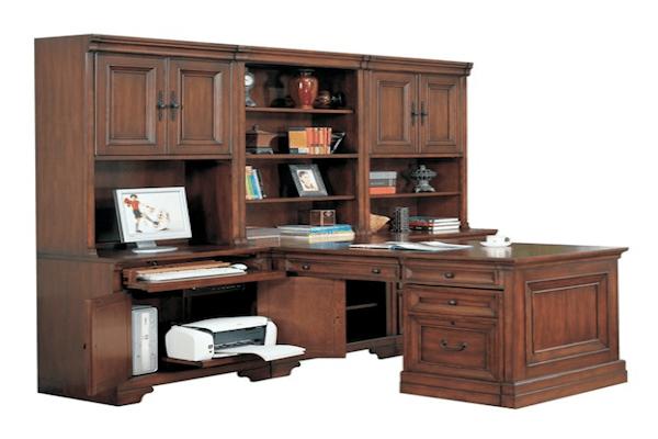 aspen home richmond modular desk wall