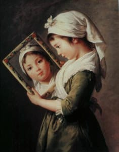Girl Looking in Mirror by EL Vigee Le Brun  (image credit mythicaljourneys.org)