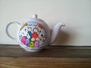 office mum post - teapot