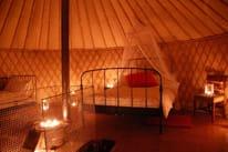 Office Mum post: photo of Yurt interior