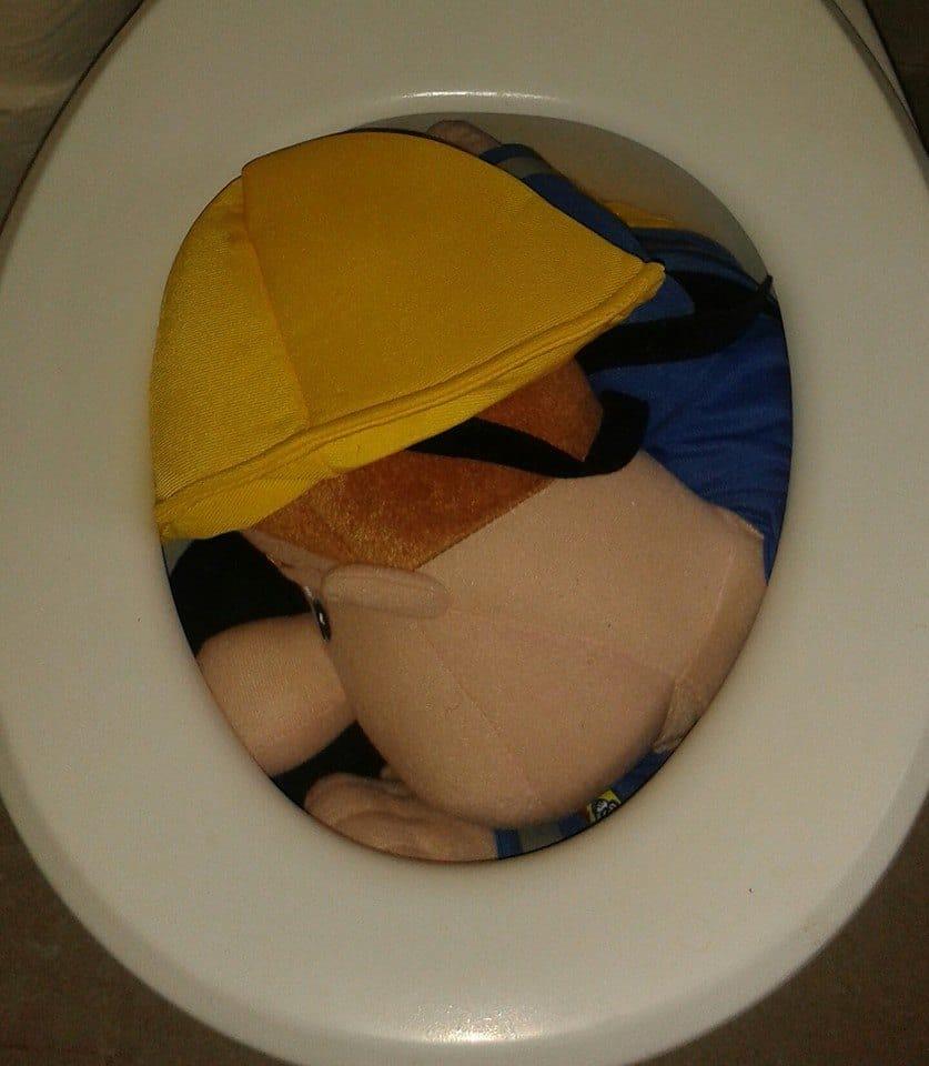 Fireman Sam in the toilet Office Mum