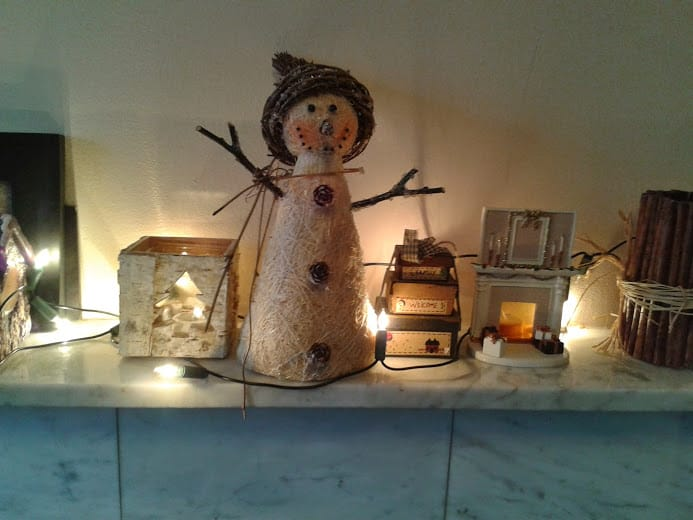 Snowman decoration - office mum