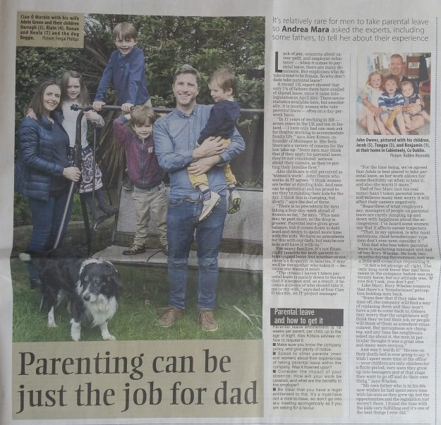 Examiner article on dads taking parental leave - Andrea Mara