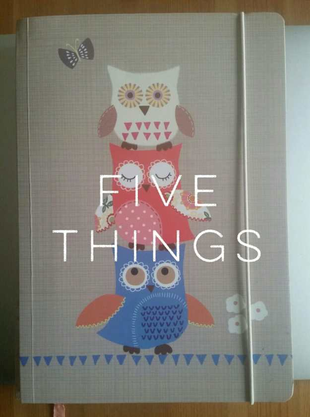 five things notebook - office mum