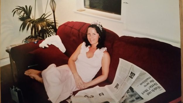I don't always wear tiaras - it was the day after my hen party.