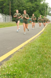 USMC OCS Female PFT Run