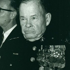 Chesty Puller with his Hands in Pockets (or Out of Regs)