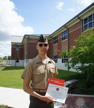 No longer a Second Lieutenant, the day I graduated the Logistics Officer Course and permanently headed to the fleet. Enough death by PowerPoint!