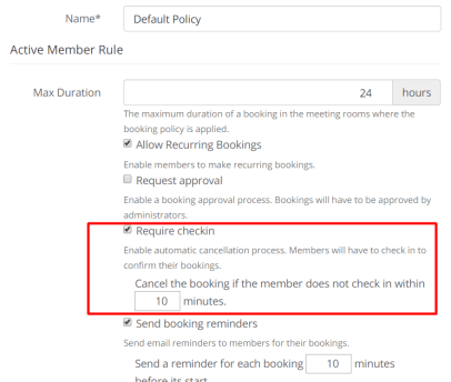 Edit Booking Policy - OfficeRnD