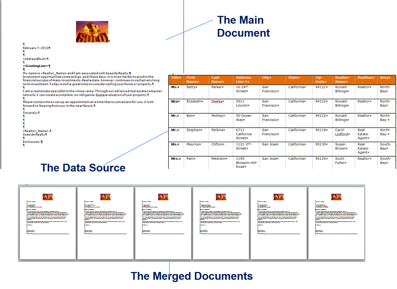 Mail Merge Two Excel Spreadsheets