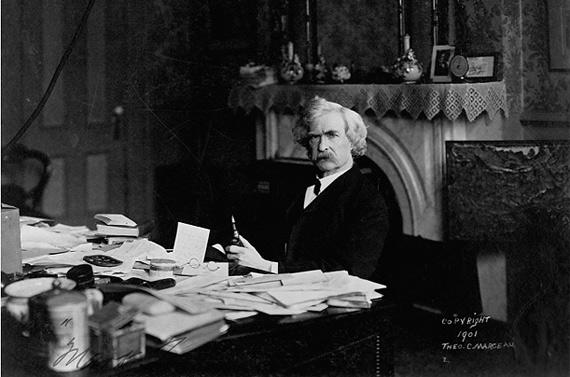 Inspiration The Messy Desks Of Einstein Jobs And Twain
