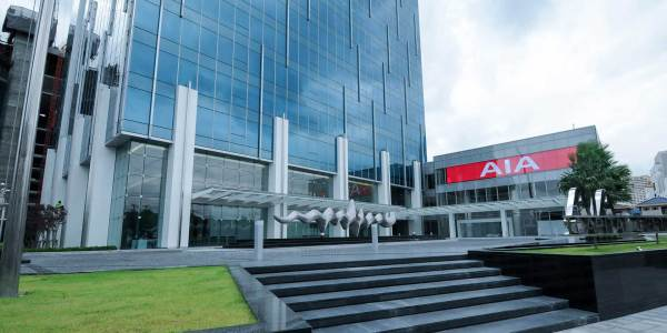 AIA Capital Center on Ratchadapisek Road, near MRT Thailand Culture Center