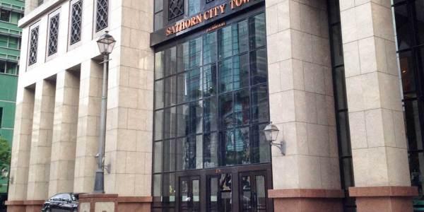 Sathorn City Tower on South Sathorn Road, near BTS Chongnonsi Station