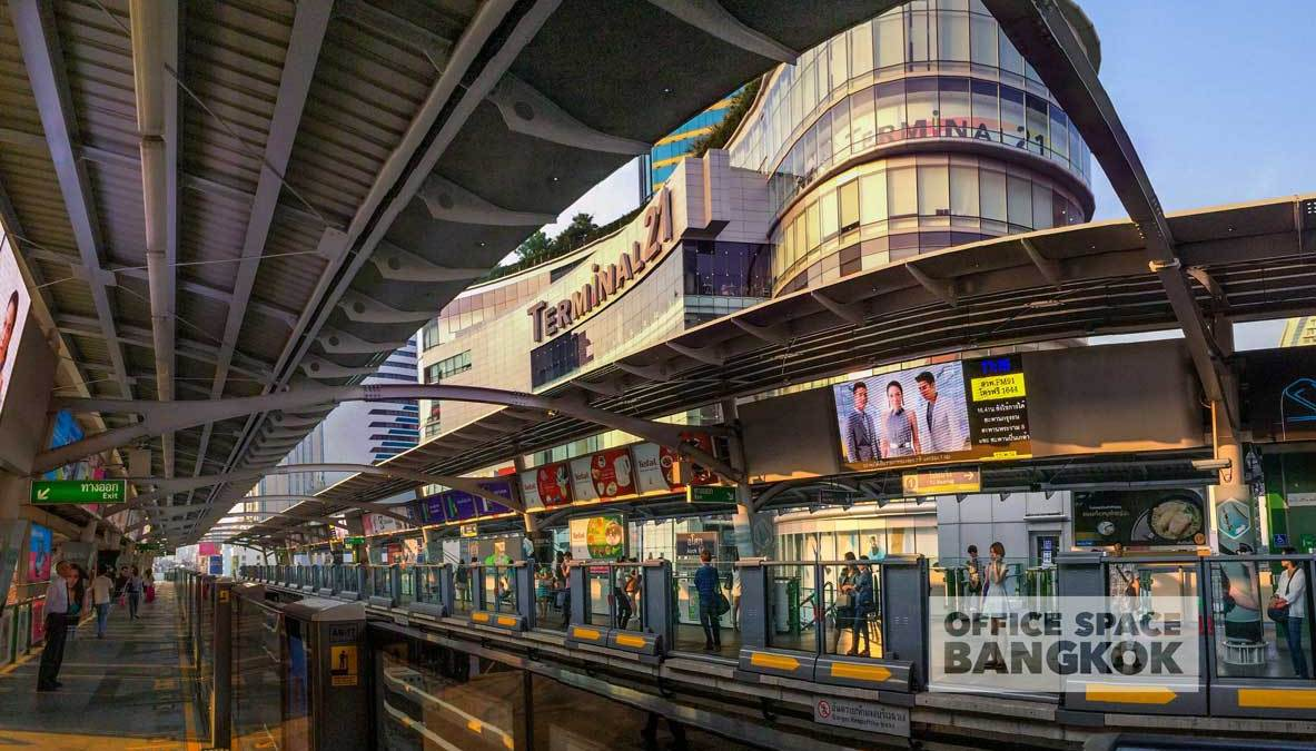 Terminal 21 And The BTS Skytrain At The Heart Of Asoke Bangkok