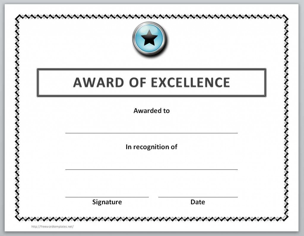 Golf Award Templates For Word