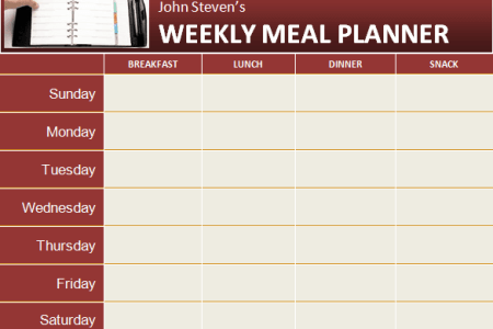 meal planner template microsoft word Daily   Weekly MS Word Planner Templates Office Templates Online