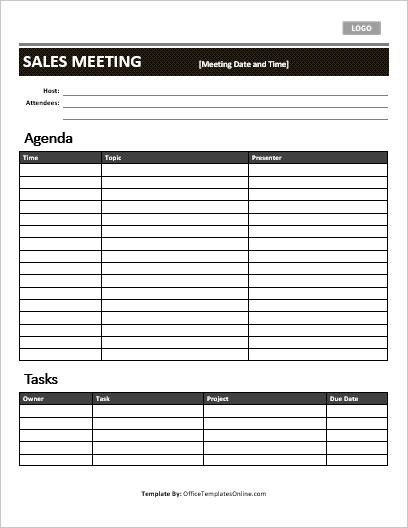 Agenda maker for microsoft word. 5 Professional Meeting Agenda Templates Office Templates Online