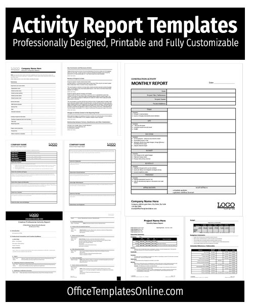 Fill, sign and send anytime, anywhere, from any device with pdffiller. Download Free Activity Report Templates For Microsoft Word