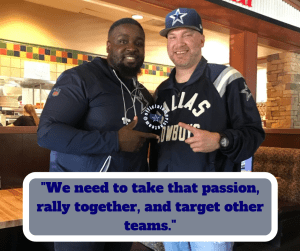 Barry Gipson, Darius Coit, Akoye Media, Comcast Cowboy, OAT, Dallas Cowboys, Cowboys, fan, base, media,