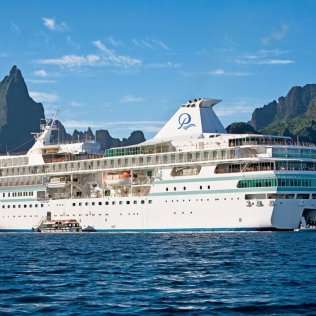 Paul Gauguin cruising cruise ship Tahiti Bora Bora