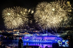 Carnival Corporation, the world's largest leisure travel company, officially welcomed its fleet's newest ship into the family over the weekend with the christening of AIDAprima, now the flagship vessel for the company's German-based AIDA Cruises brand. (PRNewsFoto/Carnival Corporation & plc)