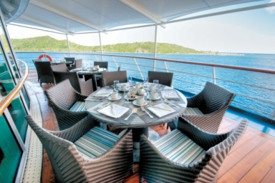 Paul Gauguin cruises cruise ship outdoor dining