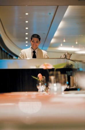 Paul Gauguin cruises cruise ship waiter