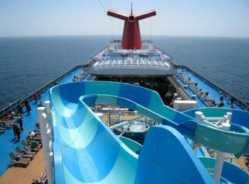carnival cruise line splendor waterslide