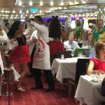 costa cruise line dining room dancing