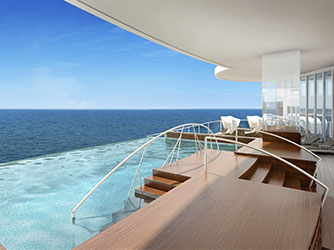 Regent Cruises Explorer cruise ship infinity pool