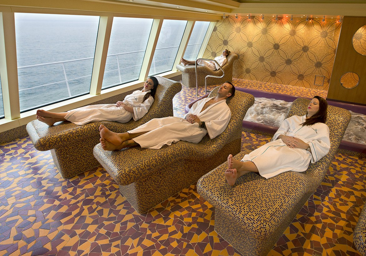Spa Carnival features some of the largest facilities at sea