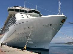 Princess Cruises Regal Princess tied to dock