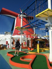 carnival cruise line breeze ropes course