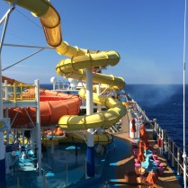carnival cruise line breeze waterslide