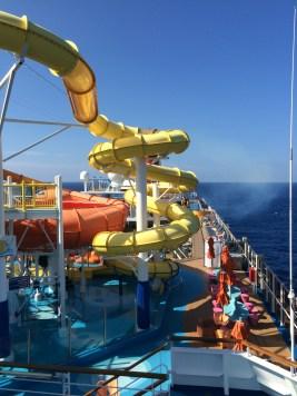 carnival cruise line breeze waterslide
