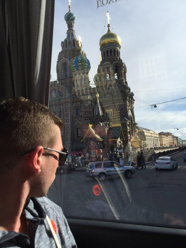 Holland America Eurodam bus tour in St. Petersburg Russia