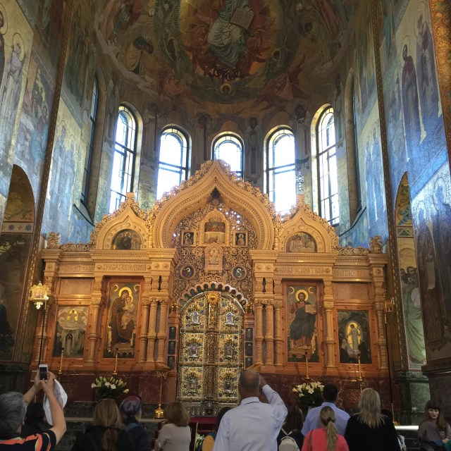 Holland America Eurodam cruise to Baltics St. Petersburg Russia Church of the Spilled Blood