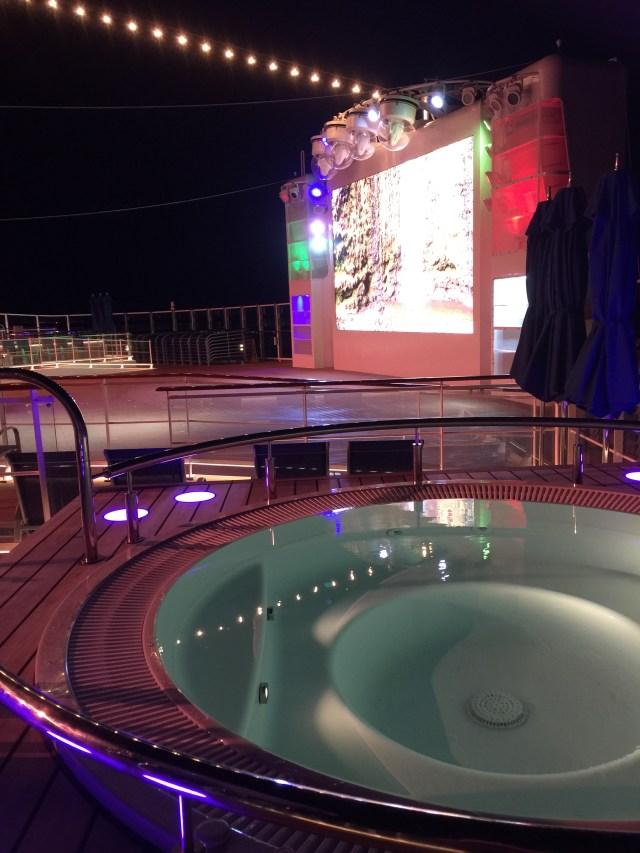Norwegian cruises escape cruise ship aft hot tub