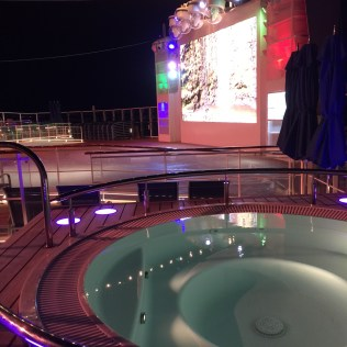 Norwegian cruises escape cruise ship aft hot tub