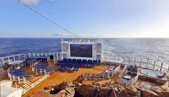 Norwegian cruises escape cruise ship aft TV