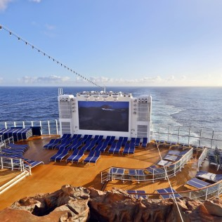 Norwegian cruises escape cruise ship aft TV