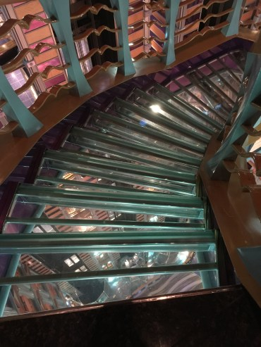 carnival cruises miracle atrium staircase