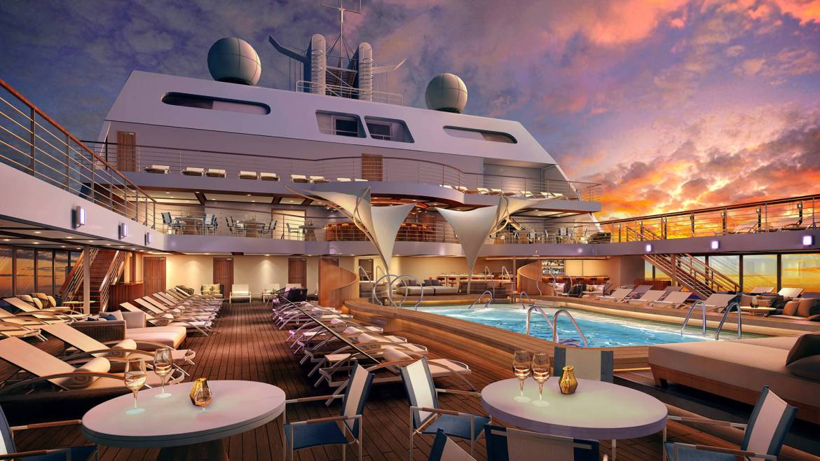 Ultra-luxury Seabourn Encore's float-out ceremony